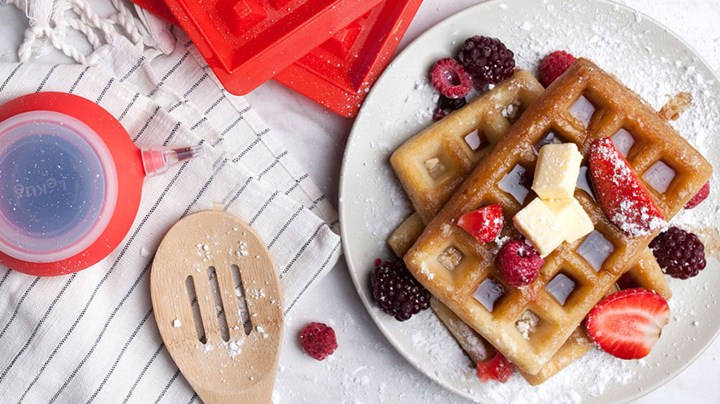 Steamed baked Strawberry Waffles